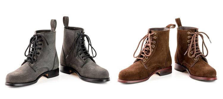 Botas de serraje para hombres